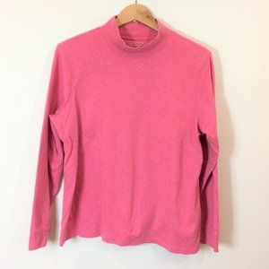 L.L. Bean Women's Pink Long Sleeve Mock Turtleneck